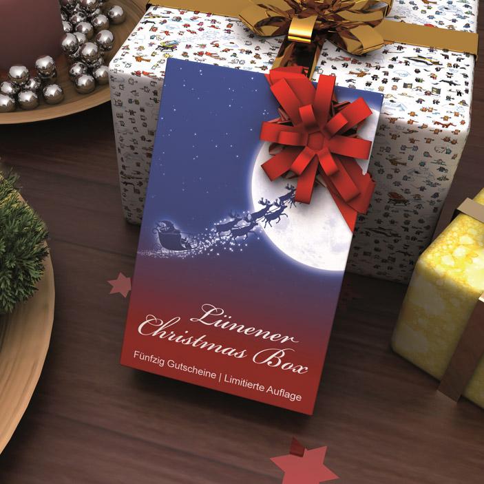 Werbeagentur JULO MEDIA Druckergebnis Lüner Christmas Box