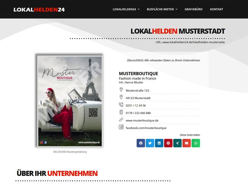 Lokalhelden24 Landingpage