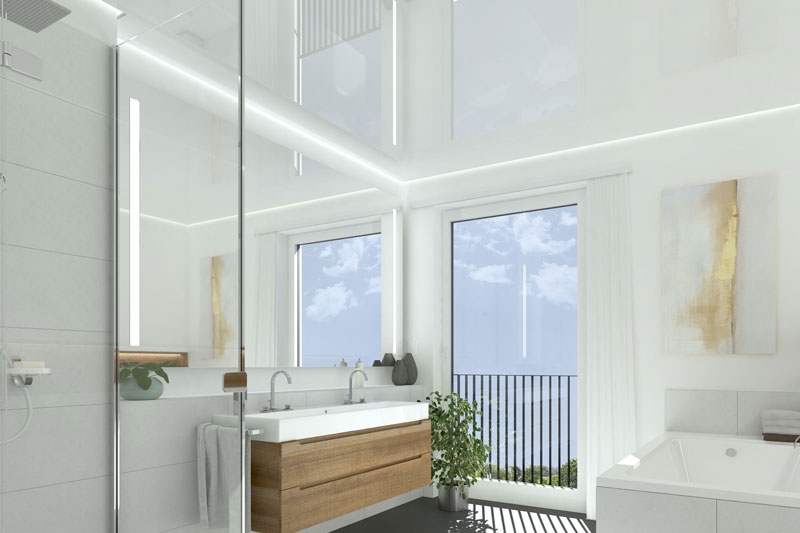 Modernes Familienbad Konzeption: 3DS Max / Rendering: VRAY