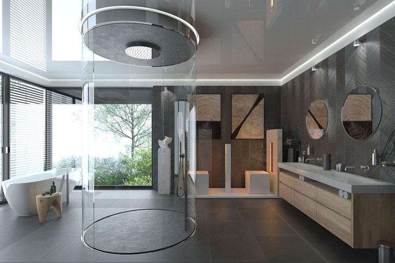 Extravagantes Wellness Badezimmer Konzeption: 3DS Max / Rendering: VRAY