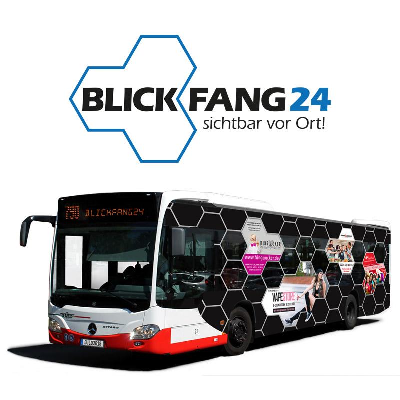 Blickfang24 Logo und Busansicht