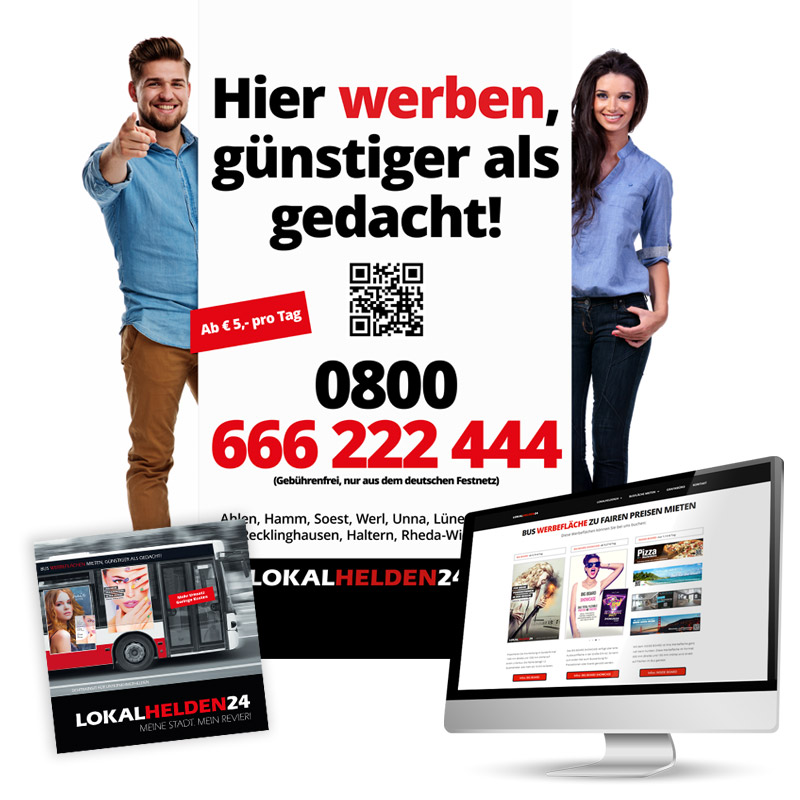 Werbeagentur JULO MEDIA Lokalhelden24 Verkaufsmaterialen