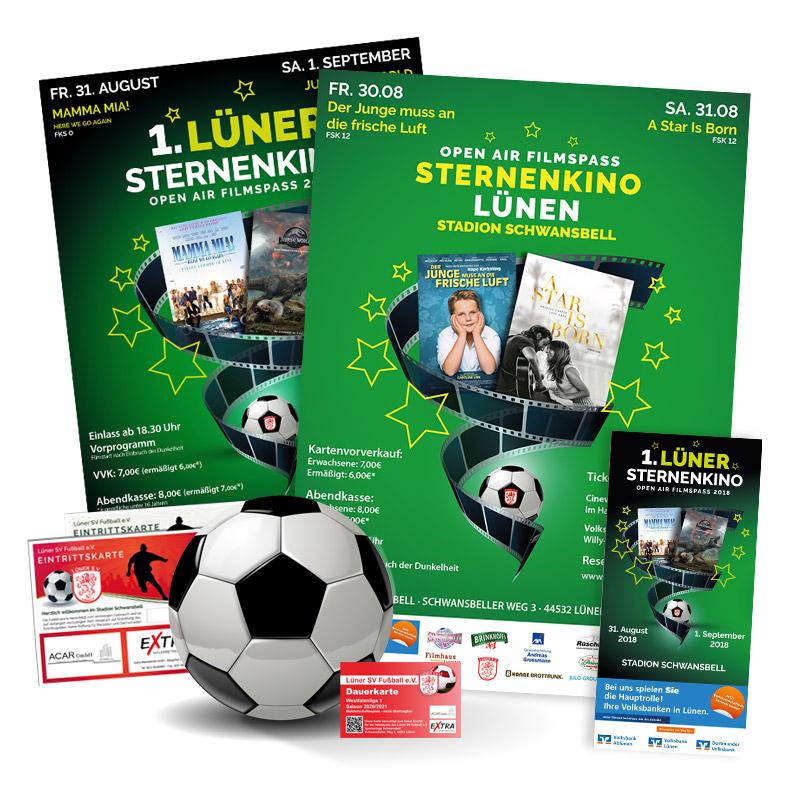 Werbeagentur JULO MEDIA Sponsoring Sternenkino Lünen / Lüner SV Fußball
